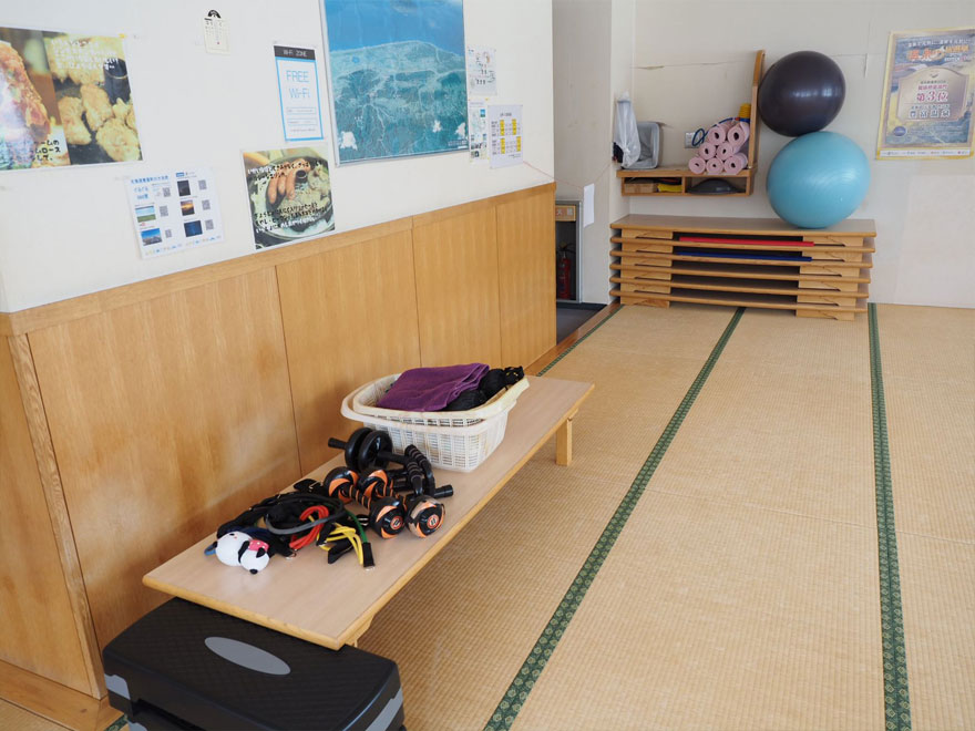 冬期に運動指導をするスペース